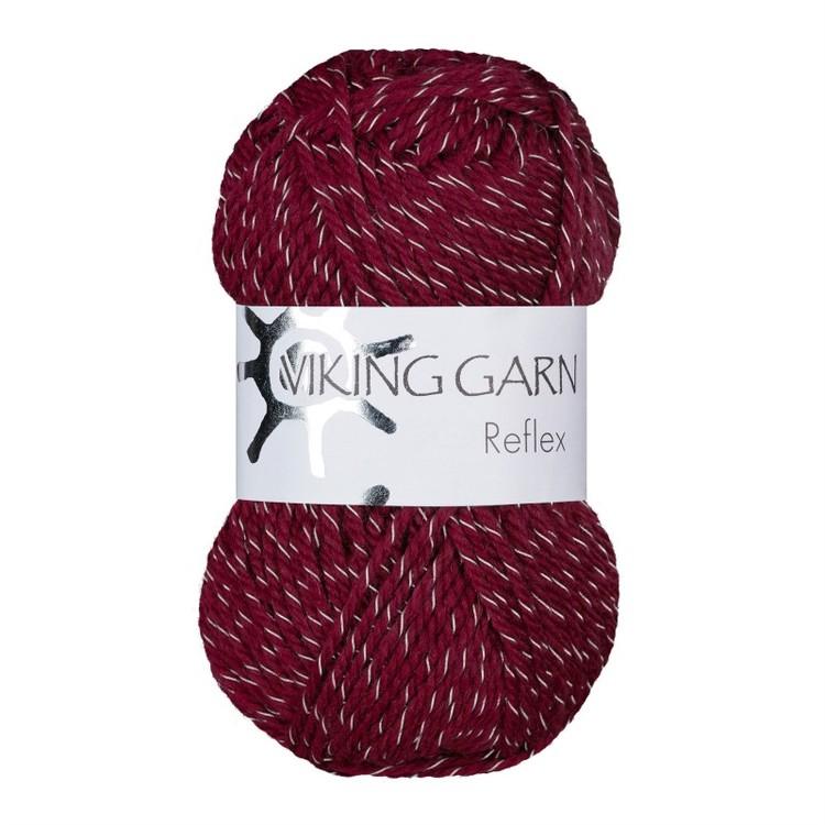 Reflex från Viking Garn - Vinröd färg 455
