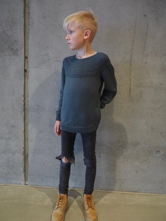 PetitKnit - Mönster Ankers Tröja Junior