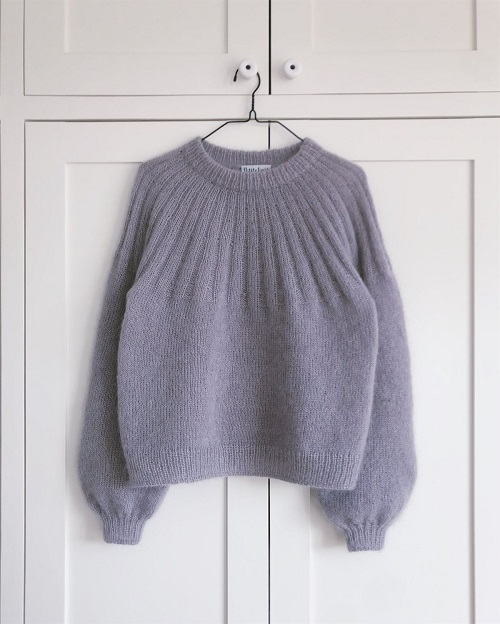 PetiteKnit - Mönster Sunday Sweater Mohair Edition