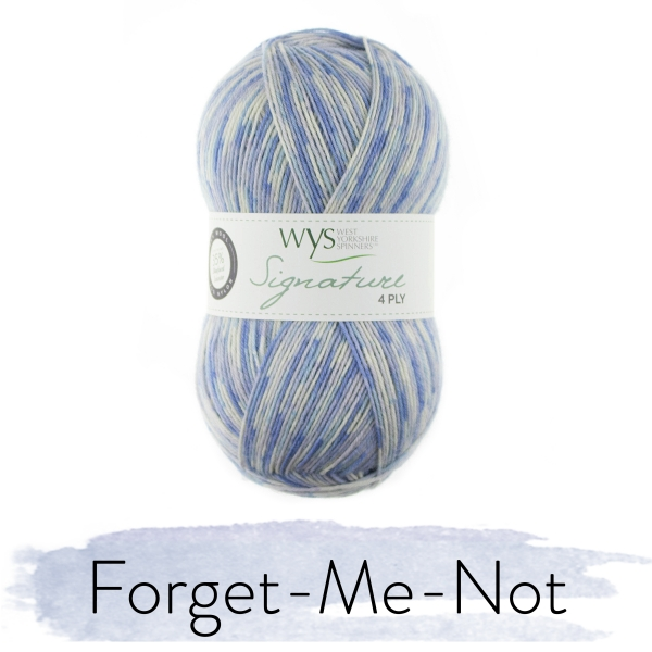 WYS Signature 4 Ply - The Florist Collection - Forget-Me-Not fg  801