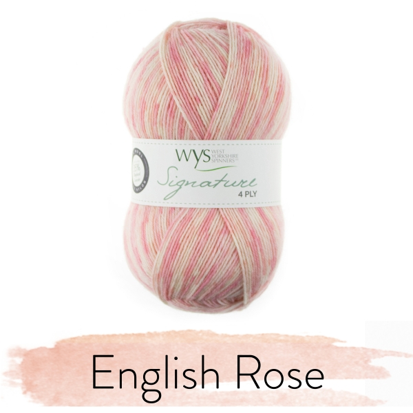 WYS Signature 4 Ply - The Florist Collection - English Rose fg 806
