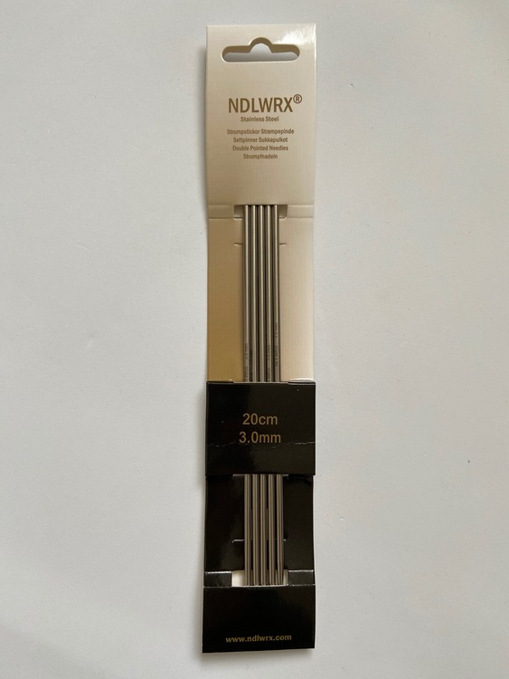 NDLWRX Strumpstickor i stål - 3,0 mm - 20 cm