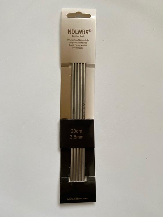 NDLWRX Strumpstickor i stål - 3,5 mm - 20 cm