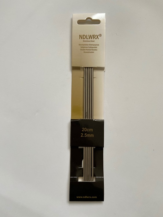 NDLWRX Strumpstickor i stål - 2,5 mm - 20 cm
