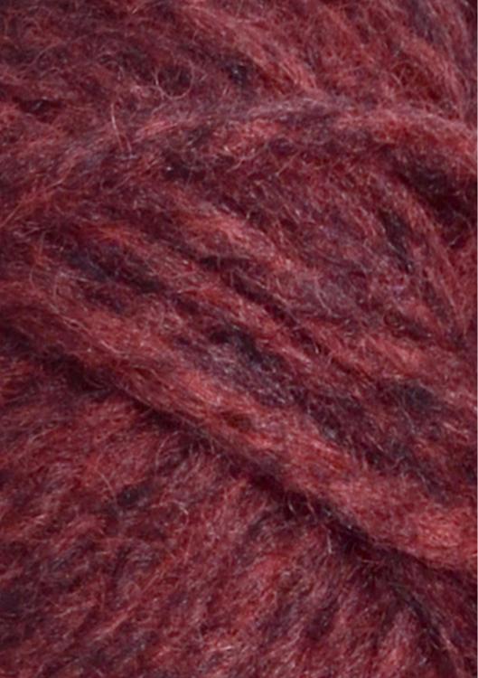Fritidsgarn - Mörk röd melerad - 4363