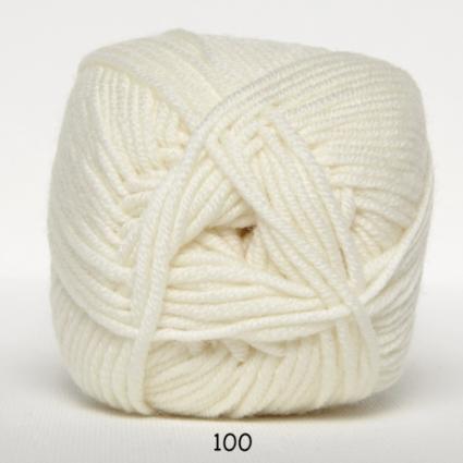 Hjertegarn Merino Cotton - Vit fg 100