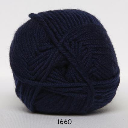 Hjertegarn Merino Cotton - Marinblå fg 1660