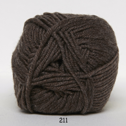 Hjertegarn Merino Cotton - Brun fg 211