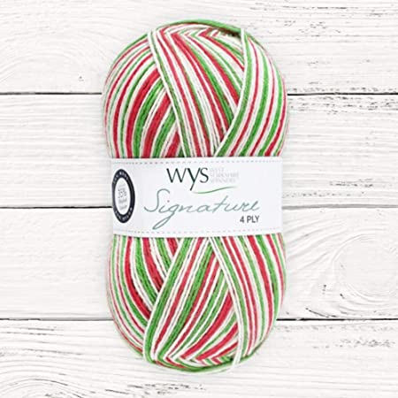 WYS Signature 4 Ply - Christmas Collection 2020 - Candy Cane fg 989