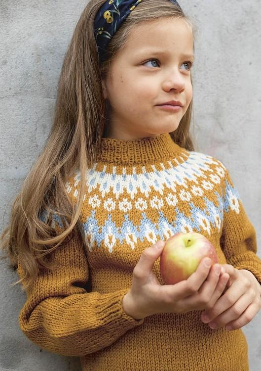 Hefte 1910 - Nr. 1 - Genser med rundfelling, strikket i Smart