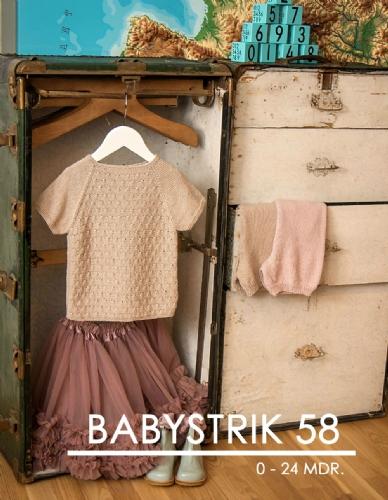 Hjertegarn Mönsterhäfte Babystrik 58 - 0-24 månader