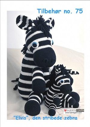 Hjertegarn Mönsterhäfte - Tillbehör nr 75 Zebra