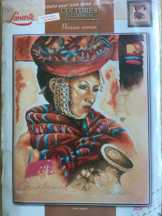 Lanarte Tavla - Peruvian woman av Joadoor art nr 34801
