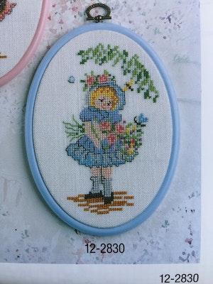 Permin broderikit - Blomsterflicka art nr 12-2830