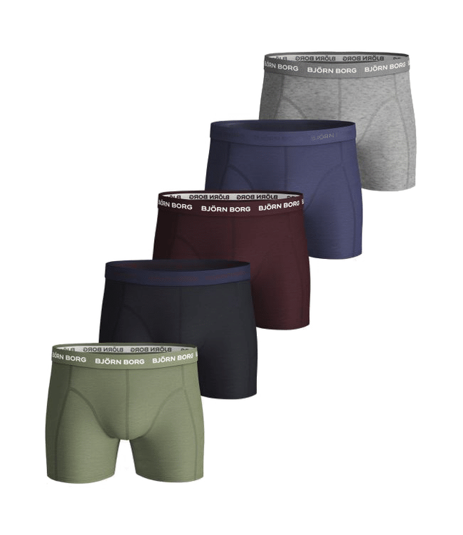 Seasonal Solid Essential Shorts 5-Pack Oil Green