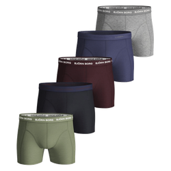 Seasonal Solid Essential Shorts 5-Pack Oil Green