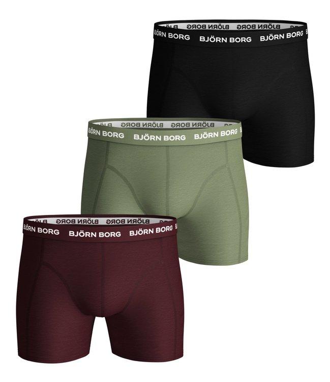 3-Pack Borg Black/Green/Purpul