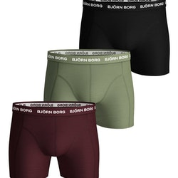 3-Pack Borg Black/Green/Purpul