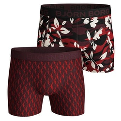 Camo Floral & Wingspan Cotton Stretch Shorts 2-Pack Red