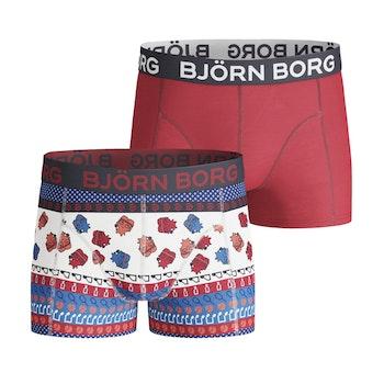 2-Pack Boys Shorts – BB 8-Bit Borg, Racing Red