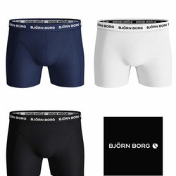 3-Pack Solid Essential Shorts Blue Depths