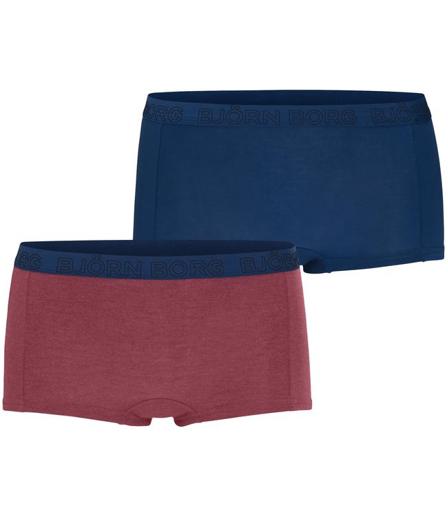 2-Pack, Minishorts BB Solids, Plum Melange