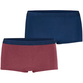 2-Pack, Minishorts BB Solids, Plum Melange