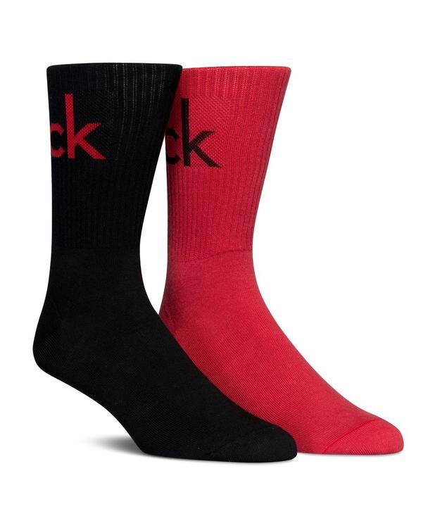 2-Pack Cotton Socks – Bright Logo, Black/Red
