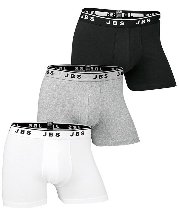 3-Pack Basic Boxer Wh/Gr/Bl