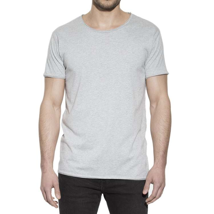 Crew-Neck Relaxed Grey Mélange