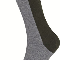 Cole Sock, Grey/Green