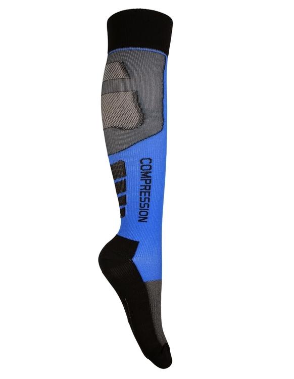 Kompressionsstrumpor Sport, Black & Blue