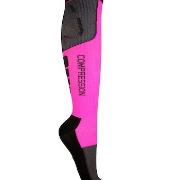 Kompressionsstrumpor Sport, Black & Pink