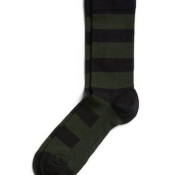 Block Stripe Socks Black Beauty