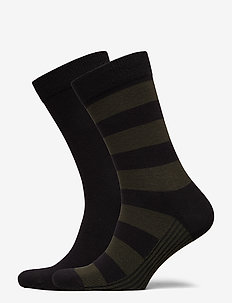 Sock Ankle BB Block Stripe - Strumpor