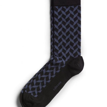 Square Socks Crown Blue