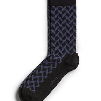 Square Socks Crown Blue