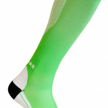 Sportkompressionsstrumpa Running – Green/White