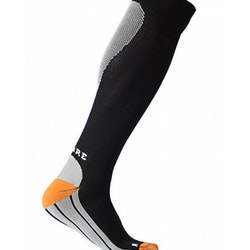 Sportkompressionsstrumpa Running – Black/White/Orange
