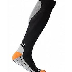 Sportkompressionsstrumpa Running – Black/White/Orange