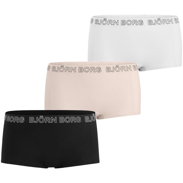 3-pack, Minishorts Solids, Black Beauty