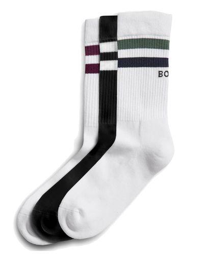 Sck Ankle Crew Sock BB Double Stripe