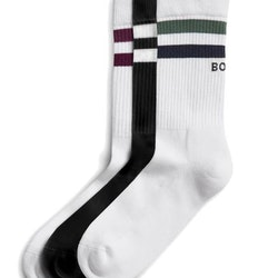 Sck Ankle Crew Sock BB Double Stripe