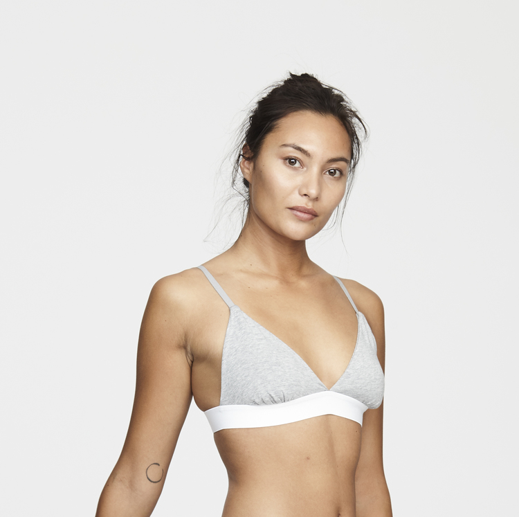 Women's Bamboo Legend Bra, Grey Melange