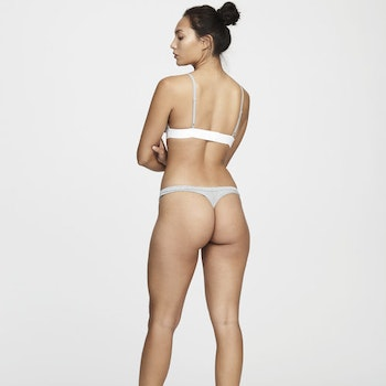 Women's Bamboo Legend Thong, Grey Melange