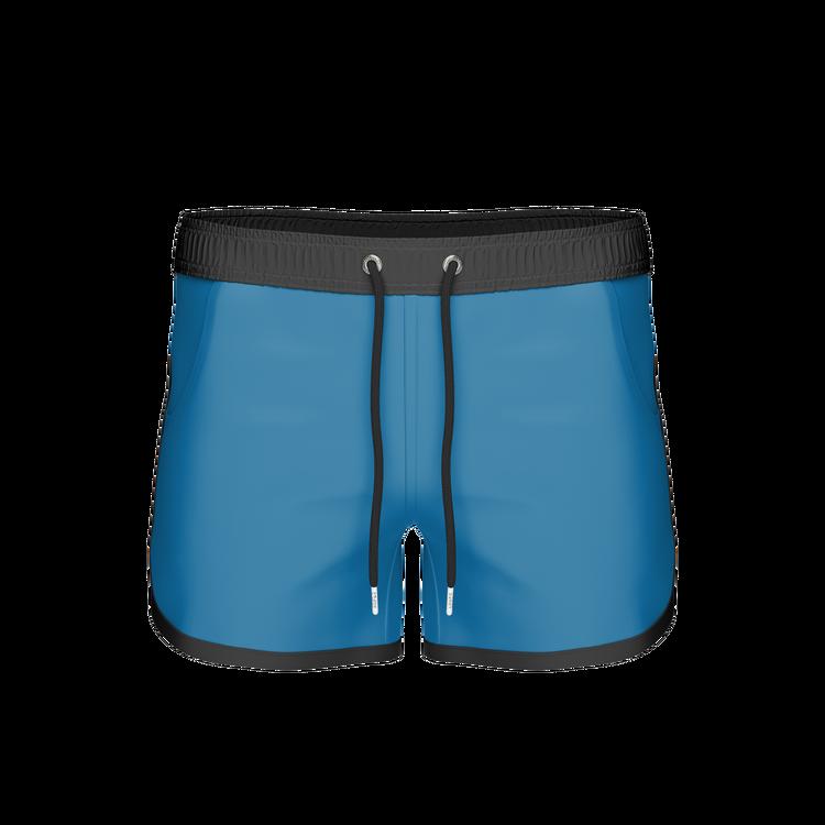 St Paul – Long Bermuda Shorts, Directoire Blue/Black