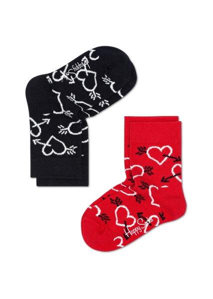 2-Pack barnstrumpor Arrow & Heart Socks