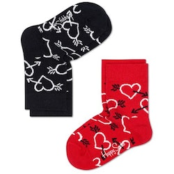 2-Pack barnstrumpor Arrow & Heart Socks