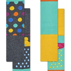 2-Pack Big Dot Anti-Slip Socks Multi