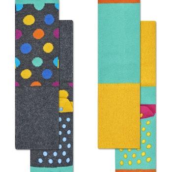 2-Pack Big Dot Anti-Slip Socks Multi